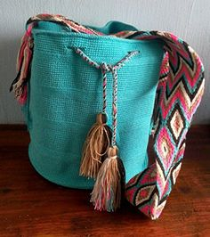 Mochila Wayuu Bag 100 Handmade by Realwayuu Large Size Boho Bag Suzu Bag Shoulder Bag FREE SHIPPING WITHIN THE US -- For more information, visit image link.-It is an affiliate link to Amazon.