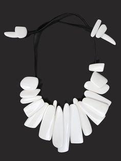 Monies, Bone Necklace, WILD-SWANS.COM