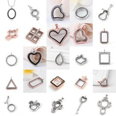 Living Memory Locket Glass Pendants Necklaces For Floating Charms Jewelry Gift #Unbranded #Charm