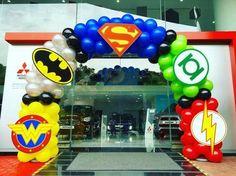 Superhero Balloon Arch