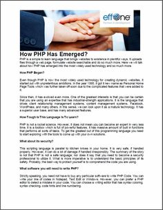 How PHP Has Emerged?