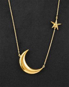 Jessica ilyjessicaomg: moon and star necklace