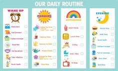 toddler routine chart - Google Search