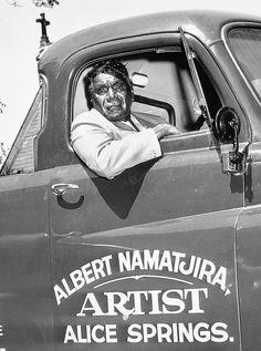 Albert Namatjira, Artist, Alice Springs by Ern McQuillan Aboriginal History, Aboriginal Artwork, Aboriginal Culture, Aboriginal Artists, Aboriginal People, Australian People, Australian Artists, Australian Aboriginals, Australian Painting