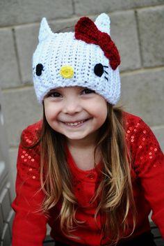 Hello Kitty Inspired Crochet Headband by TheKnottyShopOnline, $20.00
