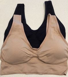 Genie Bra Women's Twin Pack Bra Nude & Black L As Seen On TV 2 Bras Comfort NEW  | eBay