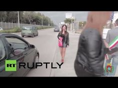 Footage released Sunday shows municipal councillors, Anastasia Petrella and Stefania Sangermano, dressed as prostitutes trapping motorists into being embarrassed by Mayor Dimitri Russo in Castel Volturno.
