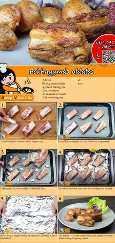 Hungarian Recipes, No Cook Meals, Food Hacks, Main Dishes, Cake Recipes, Food And Drink, Cooking Recipes, Yummy Food, Bacon