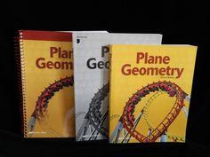 ABeka Plane Geometry Student book & Solution Key, LN School or Homeschool #TextbookBundleKit