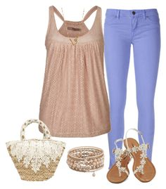 """""""Sin título #5226"""" by marlilu ❤ liked on Polyvore featuring Rich & Skinny, Tantra and Lana Jewelry"""