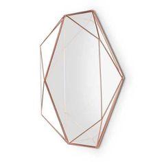 Copper Wire Prisma Mirror - Trouva