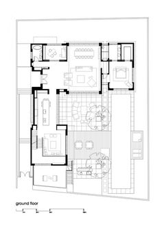 Beauty in Glass: Private House in Ramat Hasharon, Israel Modern Family House, Small Modern Home, Modern House Plans, Small House Plans, House Floor Plans, Architecture Plan, Architecture Details, Villa Plan, House Layouts
