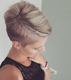 Cute braided pixie from @jolandalunenborg  #undercut #haircut #hairstyle #shorthairlove #shorthair #pixiecut