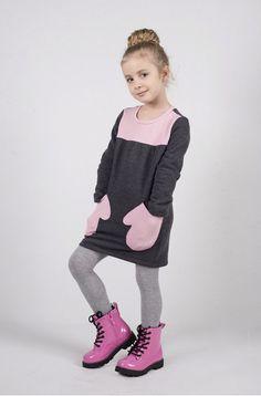 dziewczynka - moda - sukienki-Tunika DT01