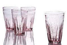 Rosanna  - Set of 4 Lavender Bistro Glasses  $29.00