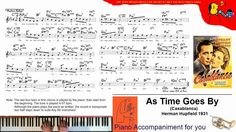 As Time Goes By Piano Accompaniment for Singers and Bb Instruments