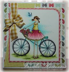Stamping Bella March Release, card done by Linda Heavens. Isn't her work awesome!