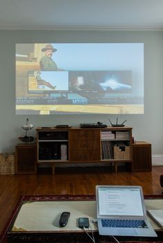 Goodbye TV: Projector Buying Tips & Advice from People Who Made the Switch - Home Theater Rooms Home Theater Basement, Home Theater Setup, Home Theater Rooms, Home Theater Design, Home Theater Seating, Basement Bars, Basement Renovations, Basement Ideas, Projector In Bedroom