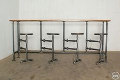 The Pipe Bench & Stools would be great for an island addition with a wider top or for a patio area