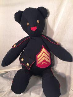 Made from US Marine Dress Blues Jacket