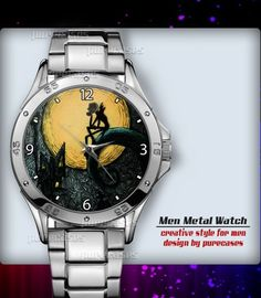Metal Watches Nightmare Before Throw #1 Men's Sport Watch | purecases - Jewelry on ArtFire