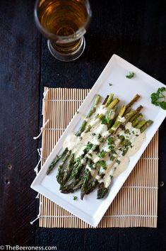 Roasted Asparagus with Beer Béarnaise Sauce - The Beeroness