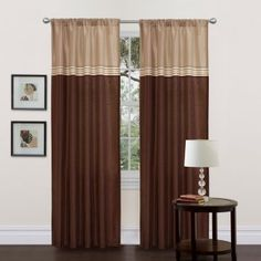 Triangle Home Fashions Terra Window Curtain - One Pair - Curtain Panels at Hayneedle