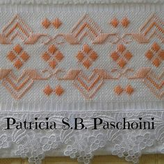 Patricia S. Swedish Embroidery, Hardanger Embroidery, Custom Embroidery, Ribbon Embroidery, Cross Stitch Embroidery, Embroidery Designs, Needlepoint Stitches, Needlework, Huck Towels