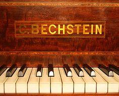 Antique, Bechstein Model E piano Manufacturers logo