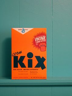 Vintage kix cereal box