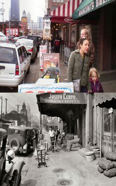 Pittsburgh's Strip District, then and now.