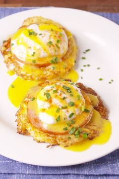 Cauliflower Benedict - substitute a veg item for the meat and you're good to go!