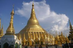 Travel to Myanmar and discover Shwedagon Pagoda - oldest Budhist temple Vietnam Travel, Asia Travel, Planet Asia, Shwedagon Pagoda, Asia Map, Journey, Gif Of The Day, Lonely Planet, Southeast Asia