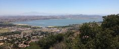 Lake Elsinore from the El Cariso Truck Trail