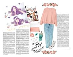 """""""Soft Pink"""" by silly-stegosaurus ❤ liked on Polyvore featuring Topshop, Too Faced Cosmetics, Monki, TheBalm, NARS Cosmetics, Miss Selfridge, Timex 80, NYX, Benefit and L'Oréal Paris"""