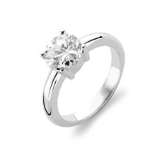 Ti Sento Silver CZ Single Stone Ring Rhodium Plated Sterling Silver Single CZ Stone Ring Size 54 / M½ - N½ Reference 1464ZI 54 Other Sizes Are Available Please Contact Us With Your Requirements All Ti Sento Products Arrive In Branded Packaging £40.00