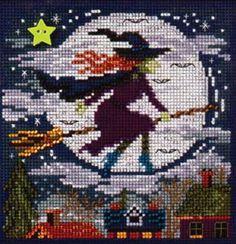 Witch Way Bead kit (cross stitch & beading)
