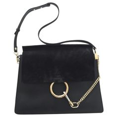 Chloé Black Leather Faye Handbag