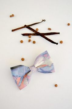Colorful leather bow / Bow clip / Hair by LeatherDetails on Etsy