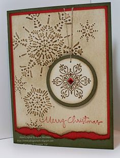 rustic card design for Christmas Holiday Cards, Christmas Cards, Holiday Time, Christmas Greetings, Merry Christmas, Snowflake Cards, Snowflakes, Stampin Up Christmas, Creative Cards