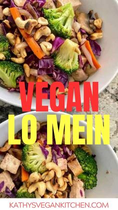 Vegan lo mein made with egg noodles uses very little sauce but packs a ton of flavor.   Try this easy Asian Dinner Recipe tonight! Vegan Lo Mein, Delicious Vegan Recipes, Tasty, Recipe Tonight, Asian Dinner Recipes, Easy Vegan Dinner, Vegan Comfort Food, Vegan Kitchen, Egg Noodles