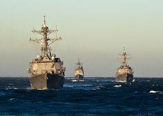 USS Stockdale (DDG-106), USS Shoup (DDG-86), and USS John Paul Jones (DDG-53)…