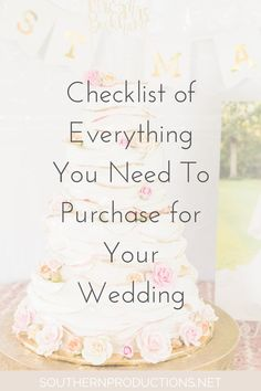 Wedding Checklist Wedding Checklist Items to Purchase - So many brides rush out as soon as they are engaged and start buying lots of stuff for their wedding due to their excitement. Planning A Small Wedding, Wedding Planning Timeline, Plan Your Wedding, Wedding Day, Wedding Tips, Dream Wedding, Wedding Stuff, Party Planning, Wedding Blog