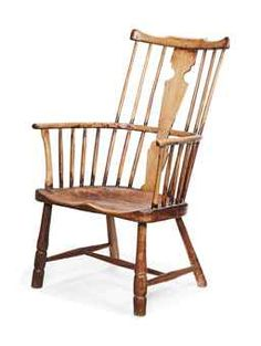 A George III Ash And Elm Windsor Armchair, Late 18th Century, West Country