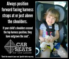 Forward Facing Car Seat Straps Should Be Positioned At Or Above The Shoulders