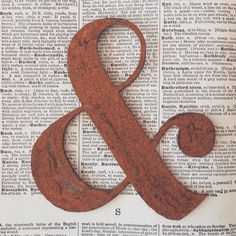 Made from Rusty 20 gauge steel  Ampersand symbol, see measurements upon ordering. If you are looking for a size not specified, shoot me a message and I can get it done for you.   Super cute wedding gift or hung from twine or ribbon as décor in your home :) Also great for the DIYers to make industrial style signs!  I can also punch holes if youd like, click on link to purchase - https://www.etsy.com/listing/170440376/hole-punch-fee-for-rusty-letter-purchase?ref=shop_home_active  If you'd…