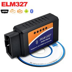 Hot Sale ELM 327 V2.1 Interface Works On Android Torque Elm327 Bluetooth OBD2/OBD II/OBD 2 Diagnostic Tool Car Scanner Tool