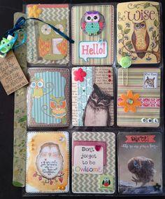 just me creating... Pocket Letter Pals: Owl Pocket Letter for Sweden
