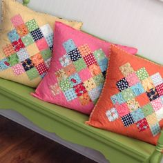 Perfect pillowcases from Lori Holt's new book Great Granny Squared