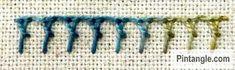 Crossed buttonhole stitch sample 2